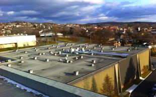 sistema para aquecimento no telhado
